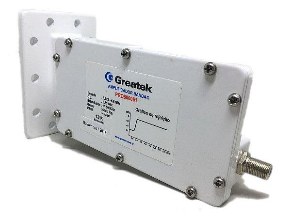 Amplificador LNB Monoponto Pro Banda C Estendida Greatek PRO8000RI