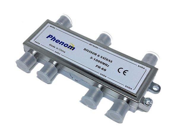 Chave Divisora de Baixa Frequência 6 Saídas Phenom 5-1000 Mhz