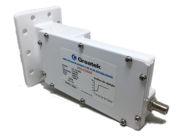 Amplificador LNB Monoponto Banda C Greatek PRO2100A