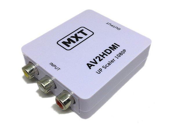 Mini Adaptador Conversor De RCA AV Para HDMI Com Áudio MXT