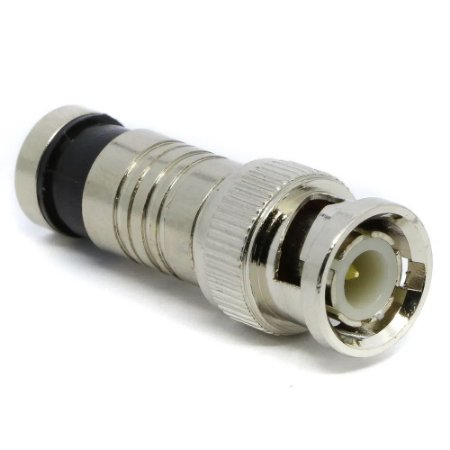 Conector BNC Macho Compressão RG59 Pino Solto