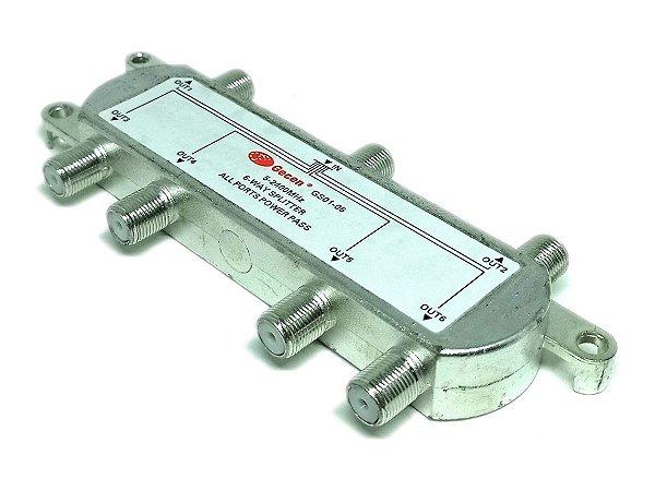 Chave Divisora de Alta Frequência 5 - 2400 Mhz 6x1 Gecen