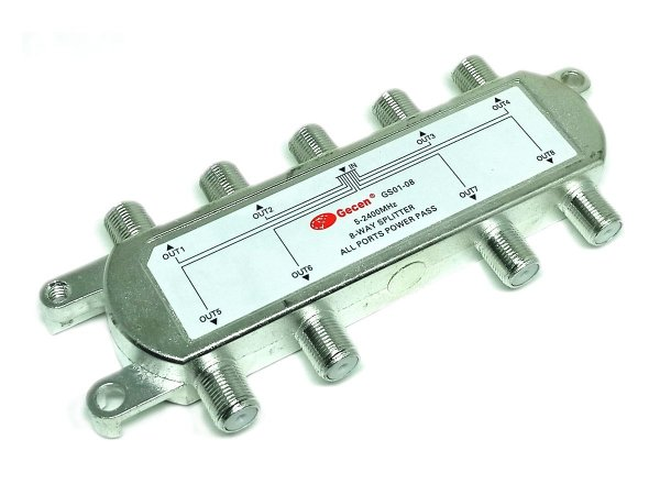 Chave Divisora de Alta Frequência 5 - 2400 Mhz 8x1 Gecen