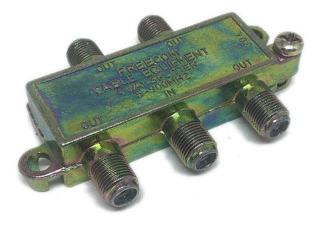 Chave Divisora de Baixa 4 Saídas 4x1 5-900mhz Freecom