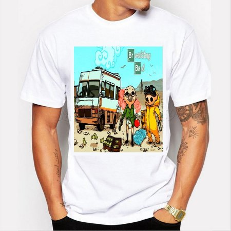 Camiseta Breaking Bad - Cartoon