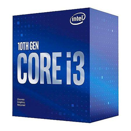 PROCESSADOR INTEL CORE I3-10100F QUAD-CORE 3.6GHZ (4.3GHZ TURBO) 6MB CACHE LGA1200