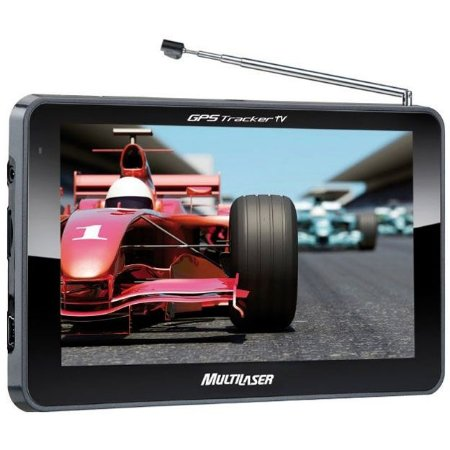 "GPS Multilaser Tracker 2 GP015 com Tela Touch Screen de 7"", Alerta de Radares e TV Digital - Preto"