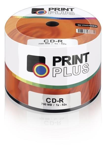 Midia Multilaser Cd-r Vel. 52x - 50 Un. Shrink Print Plus - Cd051pp
