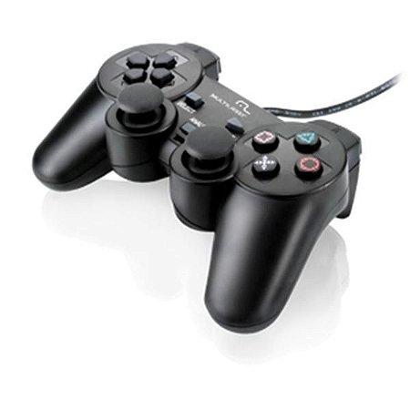 Controle 3 Em 1 Multilaser Para Ps3 Ps2 Pc - Js071