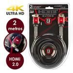 Cabo HDMI 2.0 Tv 3D 4K M/M C/ Filtro 2 Metros Blister - Empire