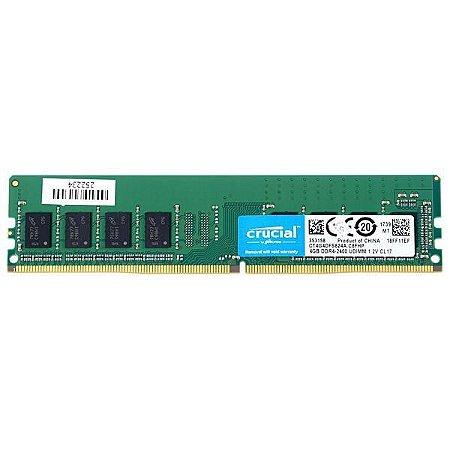 MEMÓRIA PC CRUCIAL DDR4 2400 4GB
