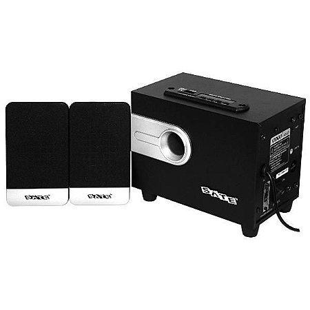 Caixa de Som 2.1 Satellite AS-621 10W RMS USB/SLOT SD/Bluetooth/Bivolt - Preta