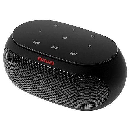 Speaker Aiwa AW31 com Bluetooth/Auxiliar Bateria de 2.500 mAh - Preto