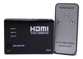 Adaptador Switch Hdmi 3 Portas 3x1 C/ Controle