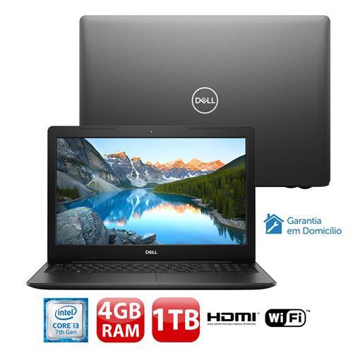 "Notebook Dell Intel Core i3 4GB 1TB Windows 10 Tela 15.6"" Inspiron"