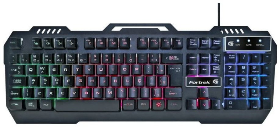Teclado Gamer Fortrek Crusader, LED Rainbow