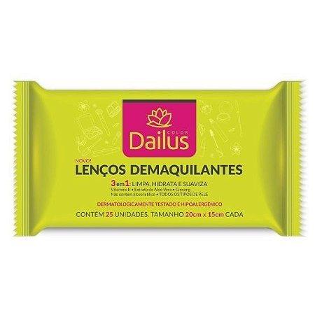 Dailus - Lenços Demaquilantes 3 em 1 (Removedor de Maquiagem) 25 unidades
