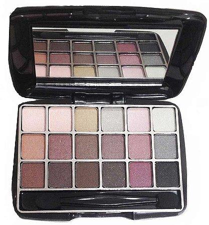 Jasmyne - Kit Sombra V012 A com 18 cores matte e cintilante