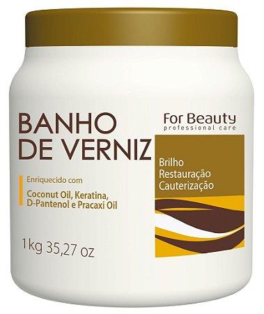 For Beauty - Banho de Verniz Brilho, Restauração e Cauterização 1kg