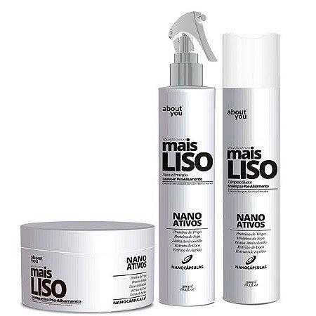 About You - Mais Liso Kit Shampoo, Máscara e Leave-in Pós Alisamento