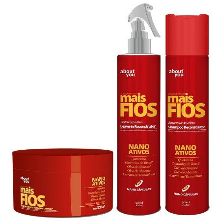 About You - Mais Fios Kit Shampoo, Máscara e Leave-in com Nano Ativos