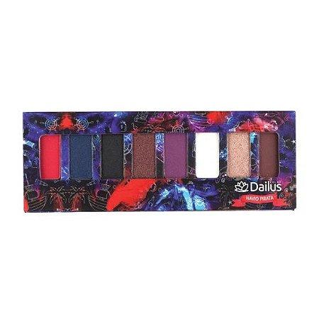 Dailus Color - Paleta de Sombras Navio Pirata 8 cores