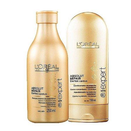 L'Oréal - Absolut Repair Cortex Lipidium Kit Shampoo 250ml e Condicionador 150ml