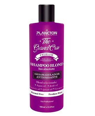 Plancton - Shampoo Blond Liso Absoluto The Grand Cru Desamarelador 500ml