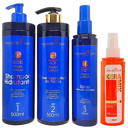 Magnific Hair - Kit SOS Primer Reconstrutor Capilar + Keramix