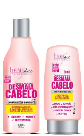 Forever Liss -  Desmaia Cabelo Kit Shampoo 500ml e Leave- in 150ml