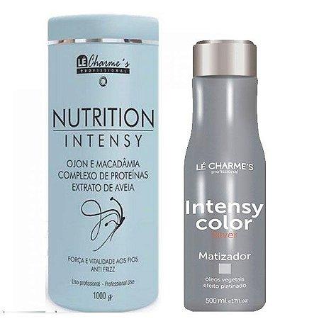 Lé Charme's - Kit Intensy Color Silver 500ml + Nutrition Intensy Máscara de Hidratação Antifrizz 1kg