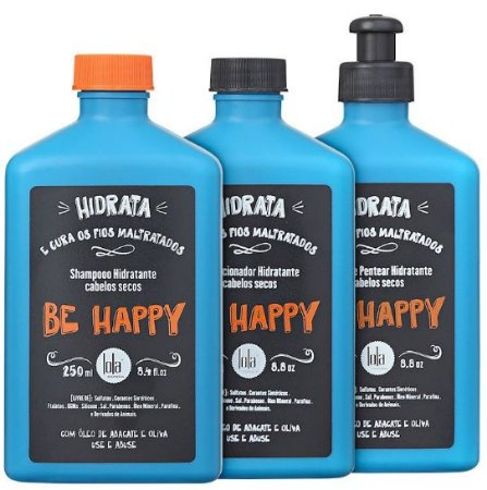 Lola Cosmetics - Be Happy Kit Shampoo, Condicionador e Creme de Pentear
