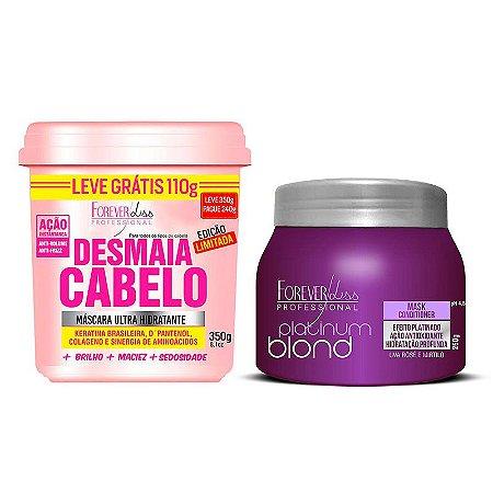 Forever Liss - Kit Desmaia Meus Loiros - Máscara Desmaia Cabelo 240g e Máscara Platinum Blond 250g