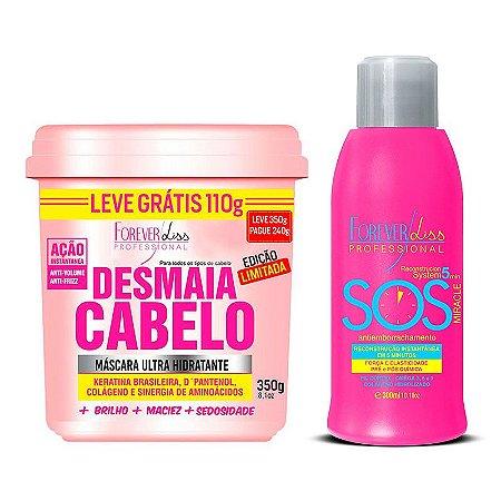 Forever Liss - Desmaia Cabelo 350g + SOS Antiemborrachamento 300ml