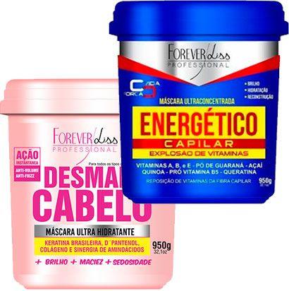 Forever Liss - Desmaia Cabelo 950g + Energético Capilar 950g