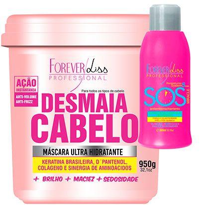 Forever Liss - Desmaia Cabelo 950g + SOS Antiemborrachamento 300ml