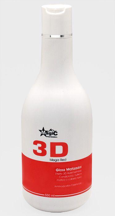 Magic Color - Gloss Matizador 3D Mega Red Cabelos Vermelhos 500ml EMBALAGEM ANTIGA - VENCE MAIO 2017