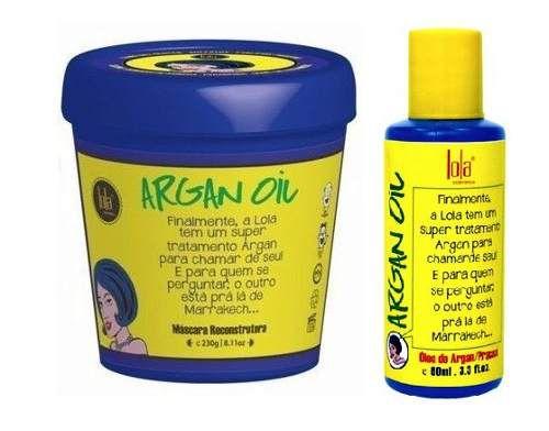 Lola Cosmetics - Kit Argan Oil Pracaxi (Máscara Reconstrutora 230g + Óleo 60ml)