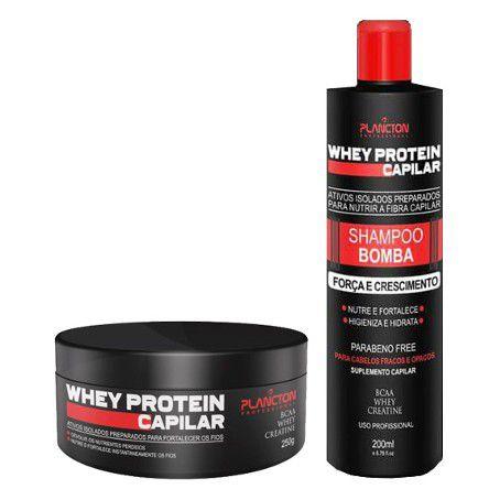 Plancton - Whey Protein Kit Shampoo Bomba 250ml + Máscara 250g