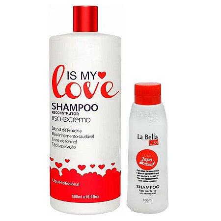 Is My Love - Shampoo que Alisa 500ml + Grátis Liso Japa La Bella Liss 100ml