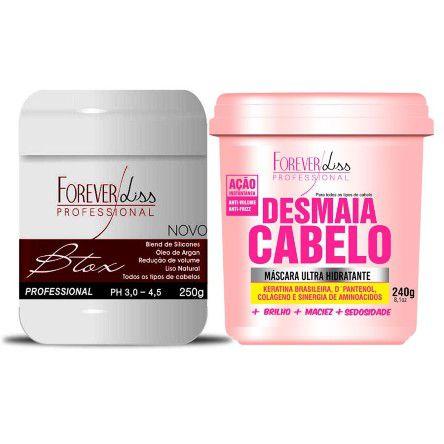 Forever Liss - Kit Desmaia Meu Bem (Redutor de Volume 250g + Máscara Desmaia Cabelo 240g)