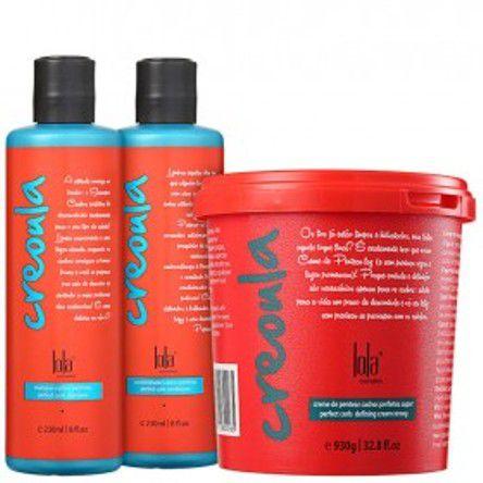 Lola Cosmetics - Kit Creoula Shampoo 230ml + Condicionador 230ml + Creme de Pentear 930g