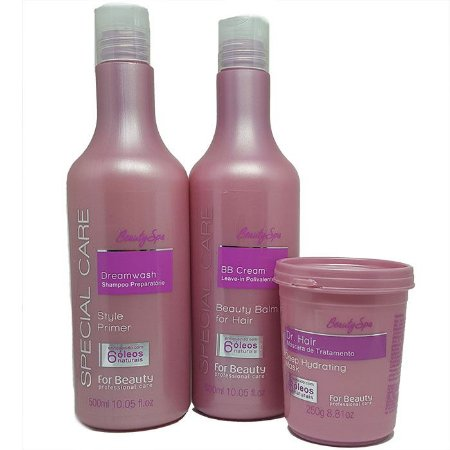 For Beauty - Special Care Beauty SPA! Kit Tratamento Shampoo, BB Cream e Máscara 250g