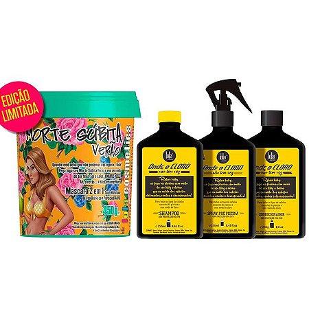 Lola Cosmetics - Morte Súbita de Verão 450g + Kit Onde o Cloro Não tem Vez (3 passos)
