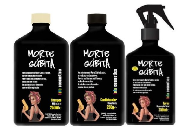 Lola Cosmetics - Morte Súbita Kit Shampoo 250ml, Condicionador 250ml e Spray Reparação Total 250ml