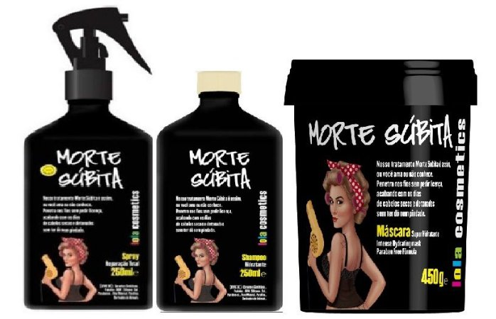 Lola Cosmétics - Morte Súbita Kit Shampoo 250ml + Máscara 450g + Spray Reparação Total 250ml