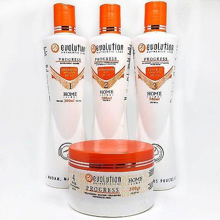 Evolution - Progress Home Care kit Manutenção (shampoo, máscara, condicionador e leave-in)