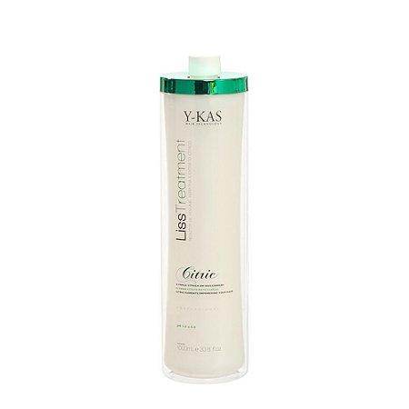 Ykas Hair Technology - Citric Escova Progressiva (Realinhamento Capilar) Passo Único 1 litro