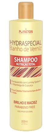 Plancton - Hydraspecial Banho de Verniz Shampoo Nutrição Total 250ml