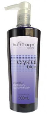 Left - Fruit Therapy Crystal Blue Shampoo Matizador Desamarelador 500ml VENCIMENTO 11/2017